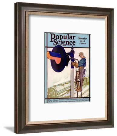 Front Cover of Popular Science Magazine: November 1, 1928--Framed Art Print