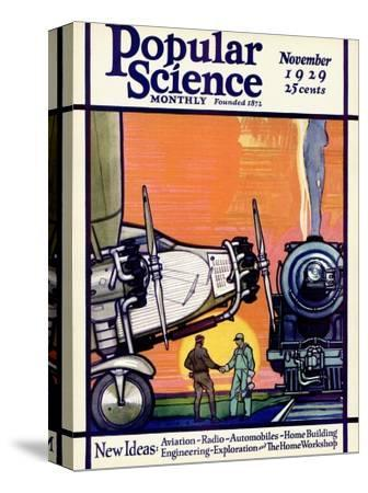 Front cover of Popular Science Magazine: November 1, 1929
