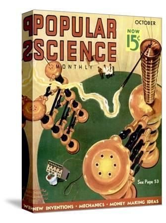 Front cover of Popular Science Magazine: October 1, 1930