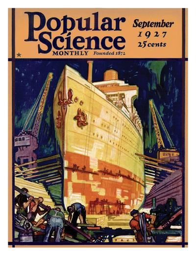 Front Cover of Popular Science Magazine: September 1, 1927--Art Print