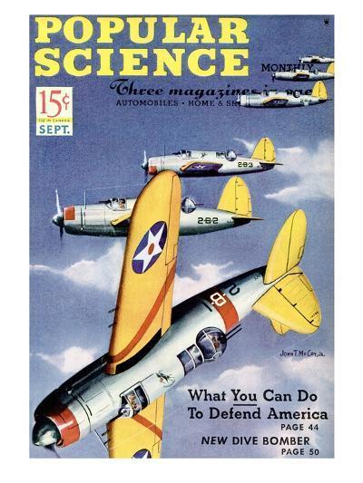 Front cover of Popular Science Magazine: September 1, 1940--Art Print