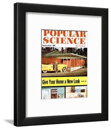 Front cover of Popular Science Magazine: September 1, 1950--Framed Art Print