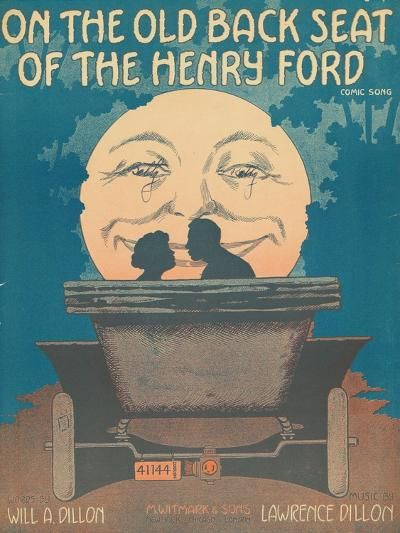 Front Cover of the Score of 'On the Old Back Seat of the Henry Ford', C.1935--Giclee Print