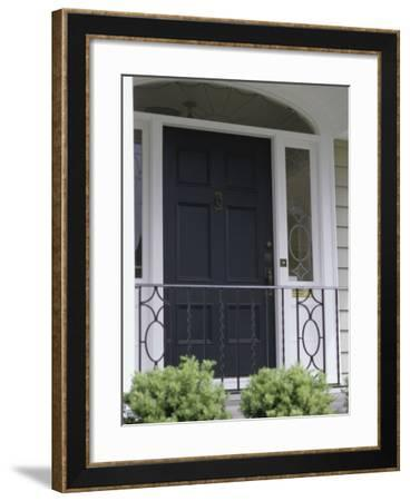 Front Door of a House--Framed Photographic Print