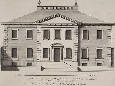 Front Elevation Of a Building. From a Pattern Book Of Drawings Of Typical English Buildings--Giclee Print