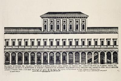 Front Elevation of Inner Facade of Papal Palace in Monte Cavallo, Later Quirinale Palace-Giacomo Rossi-Giclee Print