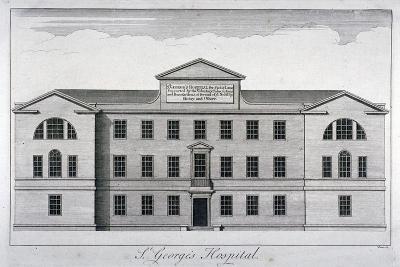 Front Elevation of St George's Hospital, Hyde Park Corner, Westminster, London, C1740-William Henry Toms-Giclee Print