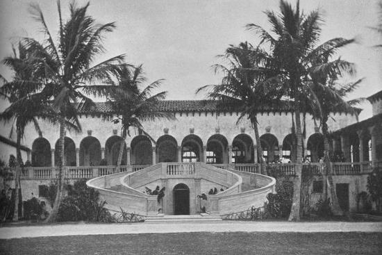 Front elevation of the clubhouse, Gulf Stream Golf Club, Palm Beach, Florida, 1925--Photographic Print
