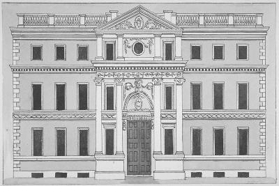 Front Elevation of the Drapers' Hall, Throgmorton Street, City of London, 1850--Giclee Print