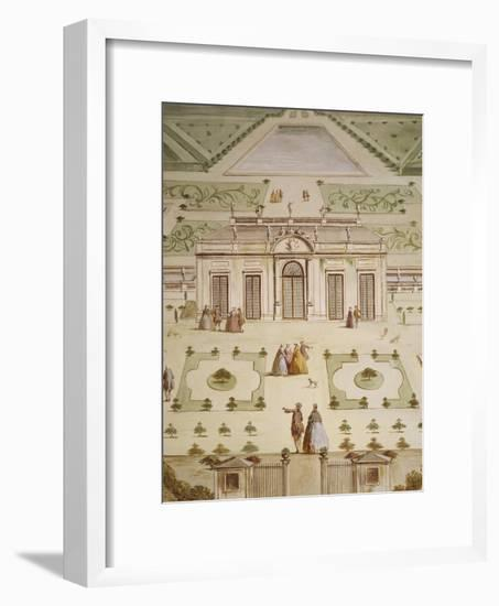 Front Elevation of Villa and Notional Garden-Andrea Urbani-Framed Giclee Print