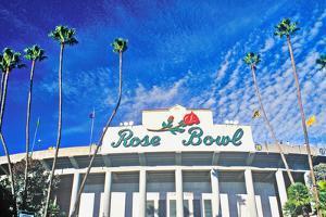 Front entrance to the Rose Bowl in Pasadena, Pasadena, California