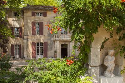 Front Entry to Chateau Roussan Near Saint Remy-De-Provence, France-Brian Jannsen-Photographic Print