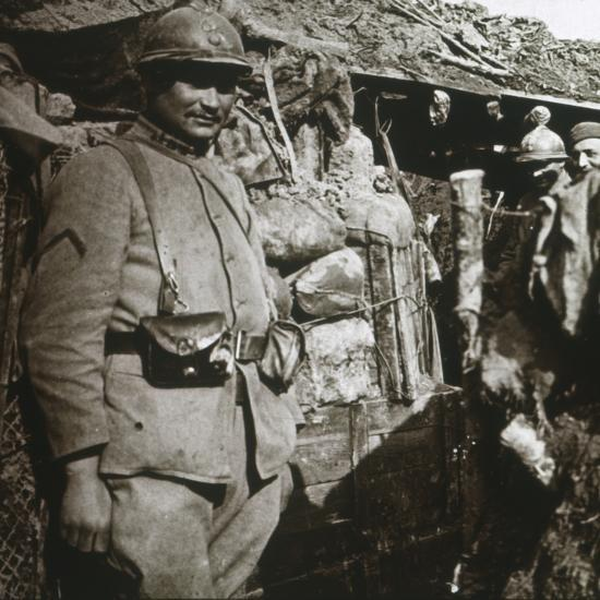 Front line at Berry-au-Bac, northern France, c1914-c1918-Unknown-Photographic Print