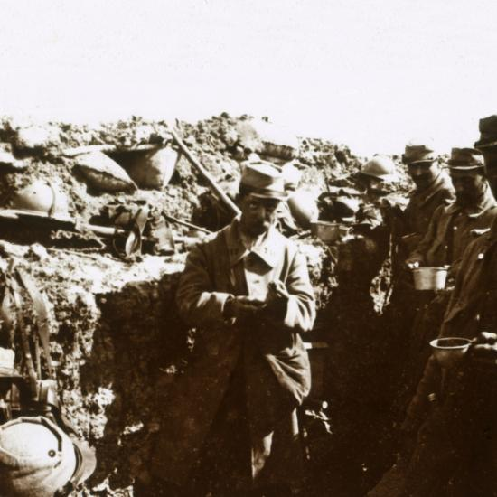Front line trenches, c1914-c1918-Unknown-Photographic Print