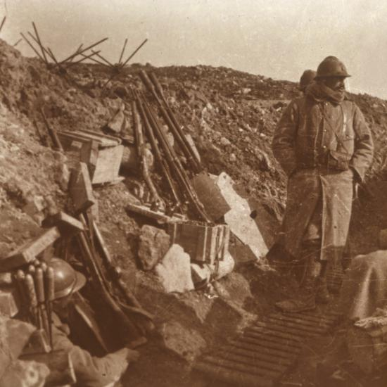 Front line, Vauquois, northern France, c1914-c1918-Unknown-Photographic Print