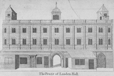 Front of Leadenhall, City of London, 1750--Giclee Print