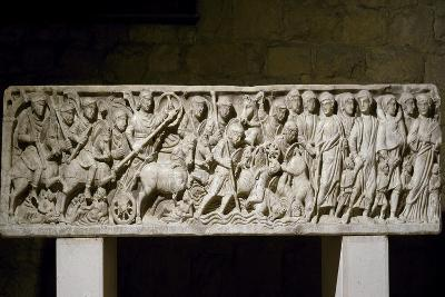 Front of Sarcophagus Depicting Exodus from Egypt--Giclee Print