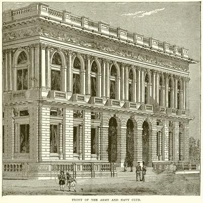 Front of the Army and Navy Club--Framed Giclee Print