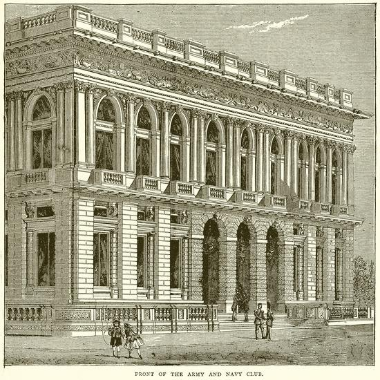 Front of the Army and Navy Club--Giclee Print