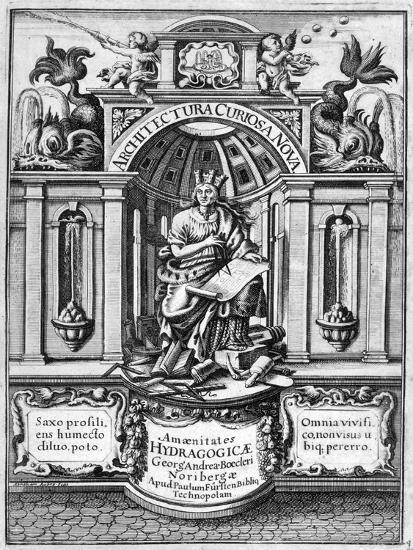 Front Page of Architectura Curiosa Nova, 1664-Georg Andreas Bockler-Giclee Print