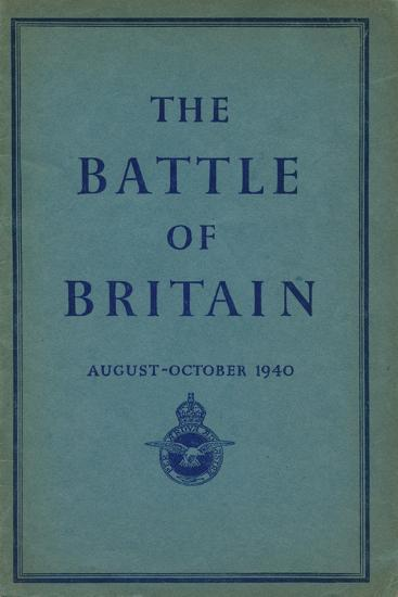 Front page of The Battle of Britain, 1940-Unknown-Giclee Print