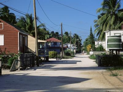 Front Street, Caye Caulker, Belize, Central America-Gavin Hellier-Photographic Print