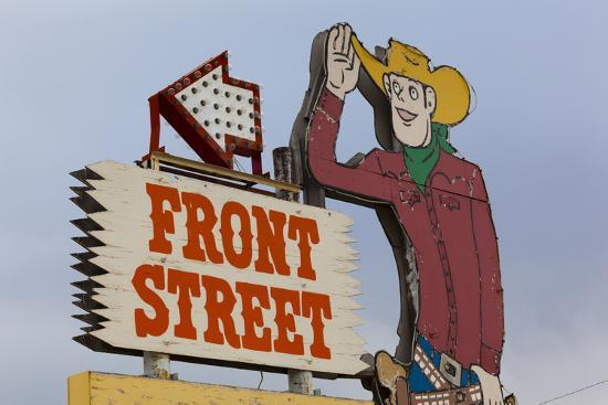 Front Street Western Town, Ogallala, Nebraska, USA-Walter Bibikow-Photographic Print