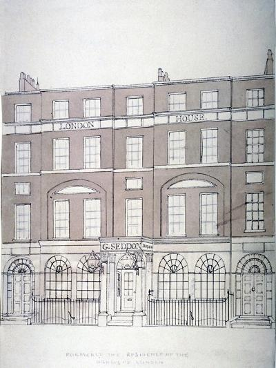 Front View of London House, Aldersgate Street, City of London, 1839--Giclee Print