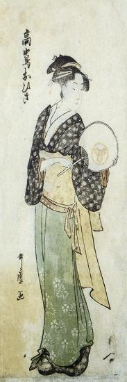 Front View of Ohisa-Kitagawa Utamaro-Art Print