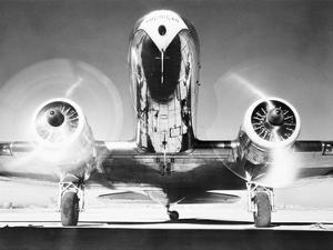 Front View of Passenger Airplane
