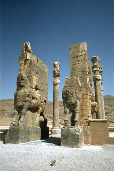 Front View of the Gate of All Nations, Persepolis, Iran-Vivienne Sharp-Photographic Print