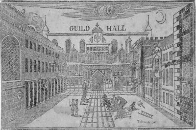 Front View of the Guildhall, Looking North, City of London, 1750--Giclee Print