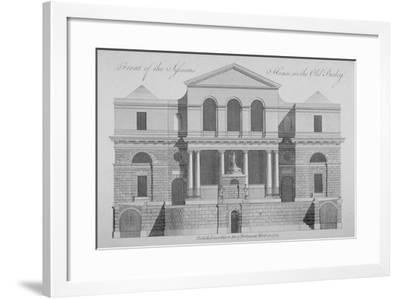 Front View of the Sessions House, Old Bailey, City of London, 1772--Framed Giclee Print
