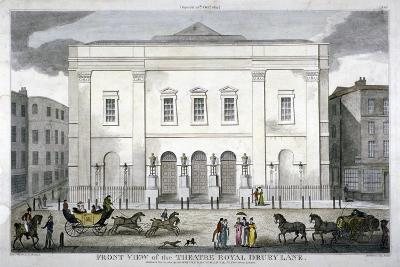 Front View of the Theatre Royal, Drury Lane, Westminster, London, 1812--Giclee Print