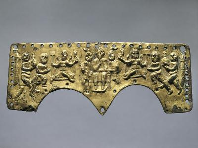 Frontal Decoration of Agilulf's Helmet, Embossed Gold, 7th Century--Giclee Print