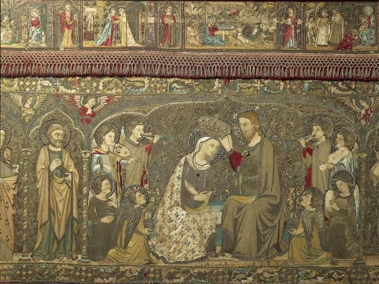 Frontal Depicting the Coronation of the Virgin Between Eight Angels and Fourteen Saints, 1366-Jacopo Ligozzi-Giclee Print