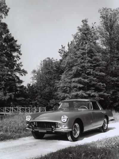 Frontal View of a Ferrari-Pininfarina Automobile Parked on a Street in a Park-A^ Villani-Photographic Print