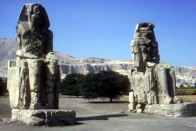 Frontal View of the Colossi of Memnon, Luxor West Bank, Egypt, C1400 Bc-CM Dixon-Photographic Print