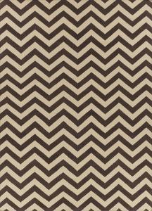 Frontier Chevron Area Rug - Chocolate/Khaki 5' x 8'