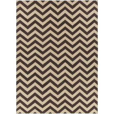 Frontier Chevron Area Rug - Chocolate/Khaki 8' x 11'--Home Accessories