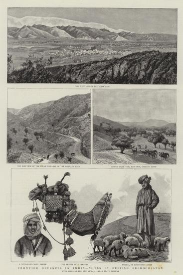 Frontier Defences in India, Notes in British Beloochistan--Giclee Print