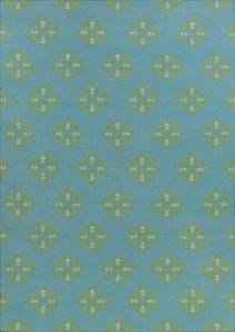Frontier Patterns Area Rug - Aqua/Lime 5' x 8'