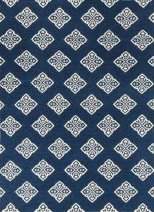 Frontier Patterns Area Rug - Navy/Ivory 5' x 8'