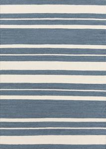 Frontier Stripes Area Rug - Slate Blue/Beige 5' x 8'