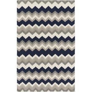 Frontier Zig Zag Area Rug - Navy/Light Gray 5' x 8'