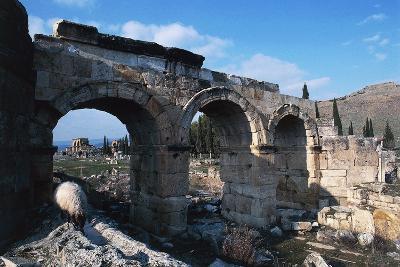 Frontinus Gate or North Gate, Hierapolis-Pamukkale--Photographic Print