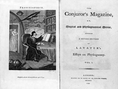 Frontispiece and Titlepage of The Conjuror's Magazine, Pub. 1792