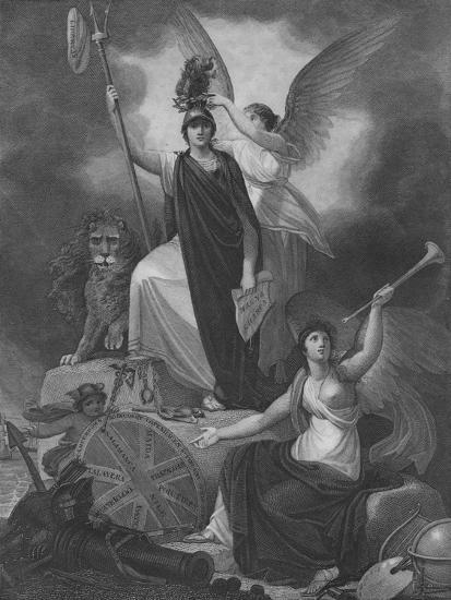 Frontispiece - Britannia holding the Trident of Neptune-Unknown-Giclee Print