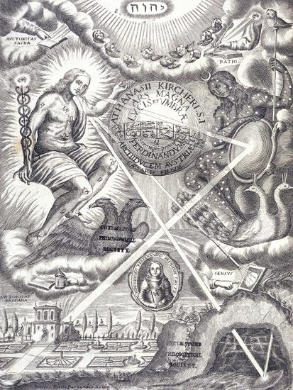Frontispiece from Athanasius Kircher's Ars Magna Lucis Et Umbrae--Giclee Print