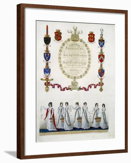 Frontispiece, from 'Ceremonial of the Coronation of His Most Sacred Majesty King George the Fourth'-John Whittaker-Framed Giclee Print